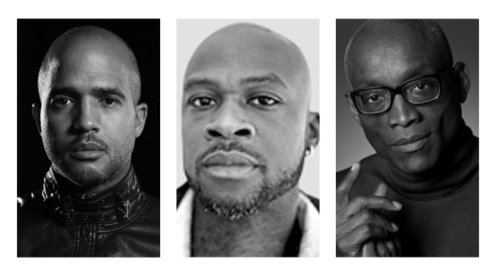 The creative team behind the opera We Shall Not Be Moved: Composer Daniel Bernard Roumain, librettist and spoken word artist Marc Bamuthi Joseph, and director/choreographer Bill T. Jones
